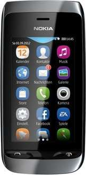 "[notebooksbilliger.de] Nokia Asha 308 Black [Dual-SIM, 7,6cm (3"")Touchscreen, 2 MP Kamera] inkl. Vsk für 52,89 €"