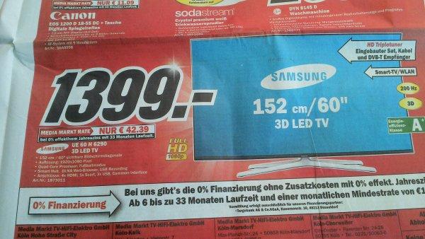 Samsung UE60H6290 3D LED TV 1399€ (Lokal Köln?)