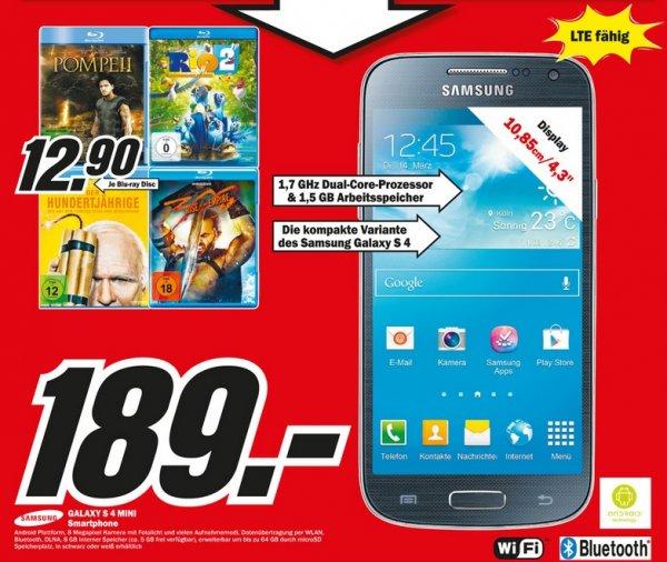 Samsung Galaxy S4 Mini für 189€ Lokal [Mediamarkt Osnabrück]