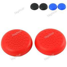 2 x Soft Silicone Antiskid Button Caps für PS4 DualShock4 Wireless Controller