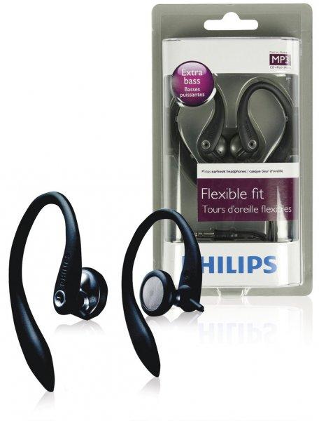 Philips SHS3200/10 Sport In-Ear-Kopfhörer (15 mm Lautsprechertreiber, Flexible 3D-Ohrbügel, 1,2 m Kabellänge)