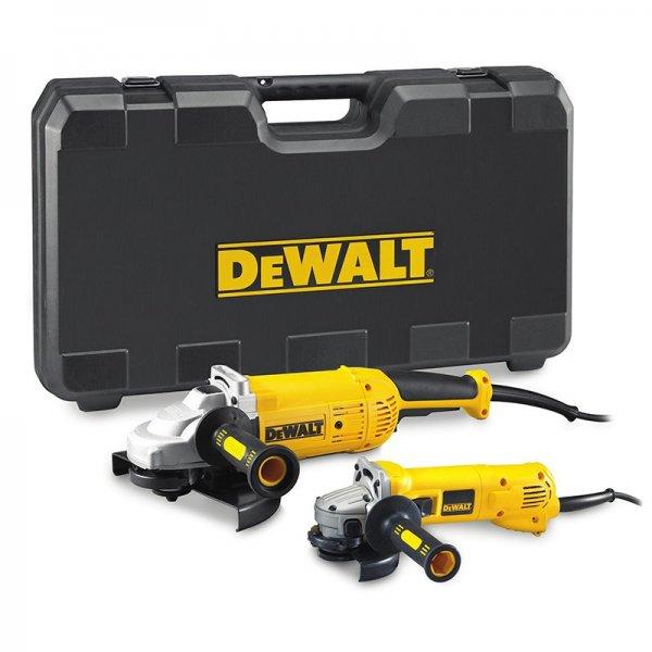 DeWalt D28498TWIN Winkelschleifer-Set (230mm & 125mm) und 5x 230mm und 10x 125mm Trennscheiben
