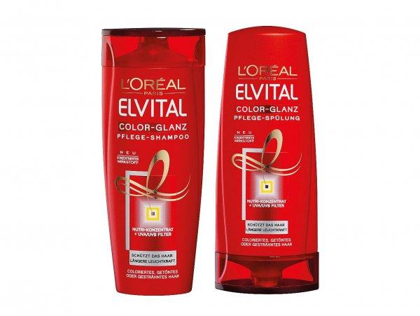 [MÜLLER/REAL/EDEKA/REWE] L'Oreal Elvital Color Glanz Shampoo + Spülung ab 0,95€/Stück [Nur bis Samstag!]