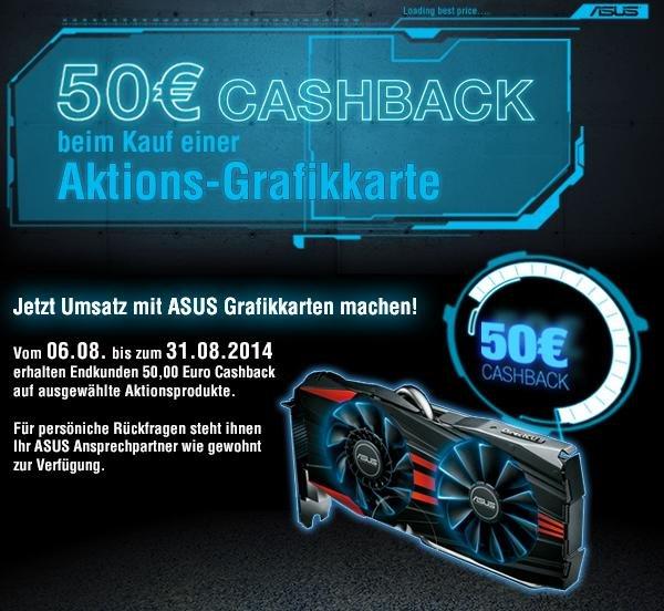 Ausgewählte ASUS Grafikkarten mit 50€ Cashback
