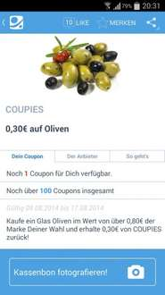 [COUPIES] 30 Cent auf Oliven (ab 80 Cent)