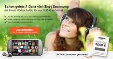 3-Monats Audible Abo + 25 EUR Amazon-Gutschein (4,85€ effektiv)