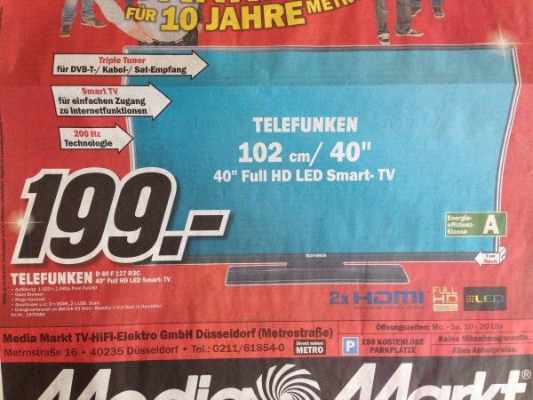 "[Lokal Media Markt Düsseldorf ] - Telefunken 40 "" LED FullHD TV - Smart TV (D40 F 127 R3C)"