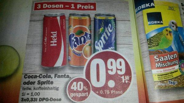 (Bundesweit) NP Discount 3 Dosen 0,33l Cola, Fanta oder Sprite 0.99€