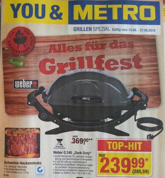"""[Metro] Weber Q240 """"Dark Grey""""  (Elektrogrill)  285,59€"""