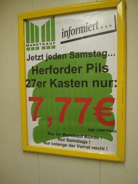 [Lokal @ MK Bünde] 27er Kiste Herforder Pils 7,77€ jeden Samstag