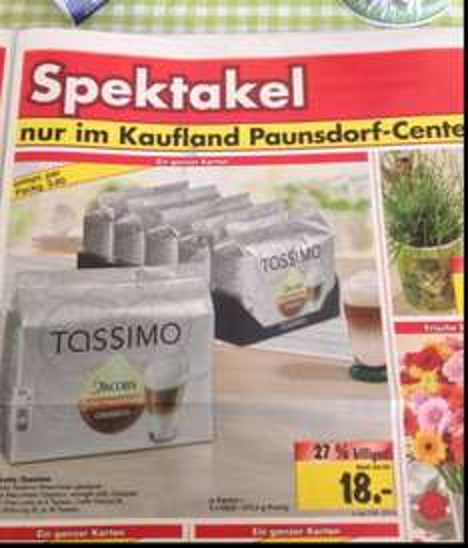 5 Packungen Tassimo Kaffee @ Kaufland Leipzig Paunsdorf