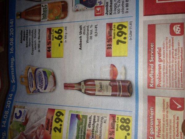 [Kaufland - BW] 0,7l Asbach Uralt für 7,99€