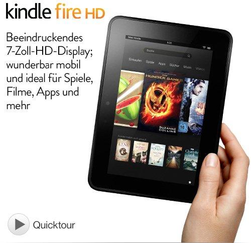 Kindle Fire HD 7 (2012) 16gb generalüberholt 89€ @Amazon