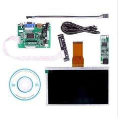 "7"" Touch Screen Display + Driver Board HDMI VGA 2A For Raspberry Pi 39,99 €"