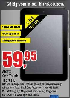 "Alcatel One Touch Tab 7HD 7"" Android Tablet @Marktkauf 59,95€ @Famila 66€ lokal"