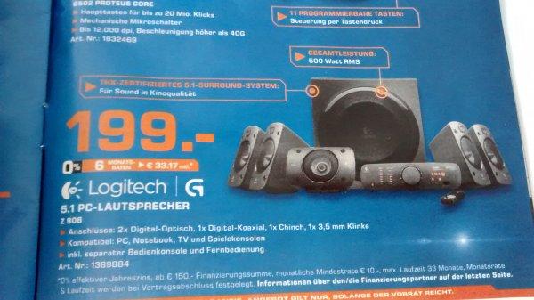 [Saturn Köln] Logitech Z906 5.1 Lautsprechersystem THX / Dolby Digital für 199€