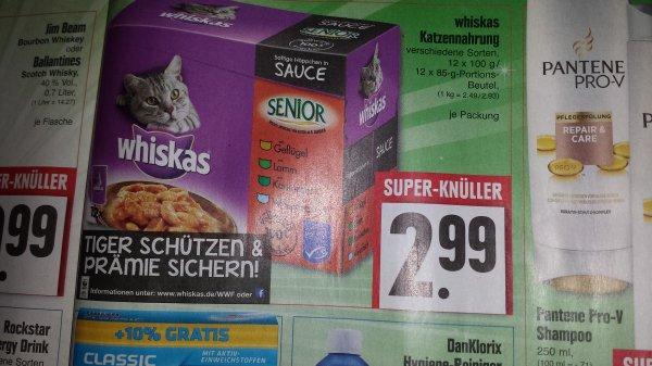 [Edeka Kassel] whiskas Katzennahrung 12x100g /12x85g für 2.99€