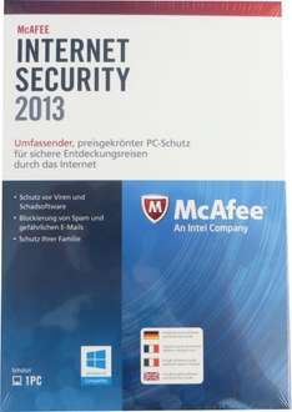 McAfee Internet Security 1 User 1 Jahr für 3,95€