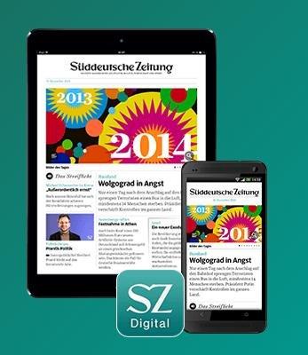 Süddeutsche Zeitung Digital-Paket 1. Monat gratis für Studenten
