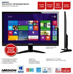 "Medion™ - 24"" LED-Backlight-Monitor ""AKOYA P55433"" (Full HD,DVI-D,HDMI,Lautsprecher,2ms) [B-Ware] ab €96,64 [@Medion.de]"