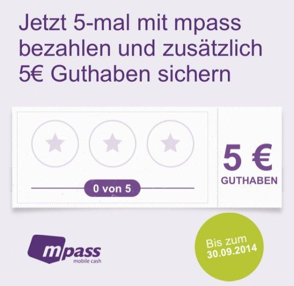3oder5?x mit Mpass bezahlen und 5€ Guthaben sichern