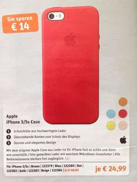 [Gravis] Apple iPhone 5/5s Case Leder 24,99€