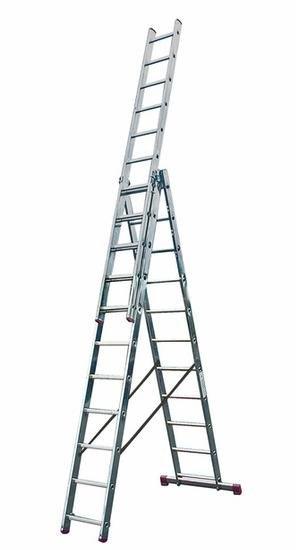 (Offline & Online) Krause Corda Vielzweck-Leiter 3 x 11 Sprossen max. 7,25 m Höhe