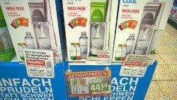 [Rewe] SodaStream Cool Megapack mit 4 Flaschen und CO2 Zylinder für 44,44 Euro