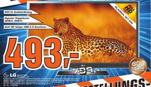 """[WUPPERTAL] LG 50PV250 50"""" FullHD Plasma für 493,- statt 549,-"""