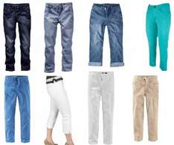 [ebay] H.I.S Jeans Damen Capri Hose Kurze Hosen Rock Shorts 34-50 div. Modelle & Farben