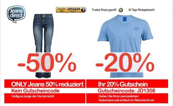 Scotch & Soda, Joop, Jack & Jones Herren T-Shirts -20% | -50% auf Only Damen Jeans @ jeans direct