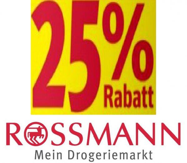 25% auf alles bei Rossmann Dresden Kesselsdorfer Straße