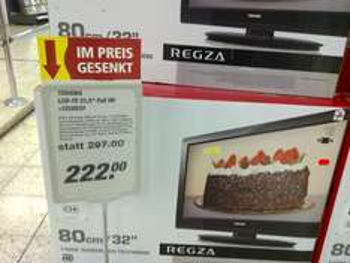 Lokal (bei Bonn): Toshiba LCD-TV 32LV833 DVB-C/T Full HD für 222.-