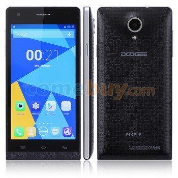 Smartphone DOOGEE PIXELS DG350 black MTK6582 Quad-Core 1,3 GHz Prozessor 4,7'' HD IPS 1280*720 Dual-SIM