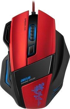 Speedlink Decus Core Gaming Maus (LED-Beleuchtung, 7 programmierbare Tasten, interner Speicher (128kbit), DPI-Schalter bis zu 5000dpi) für 29,99€ (incl. Versand)