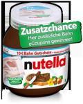 Erinnerung: 10€-Bahn-Gutscheine in Nutella-Glas
