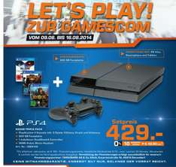 PS4 inkl. 1 Controller, Knack, Killzone & Infamous Second Son 429,- Euro [lokal Köln]
