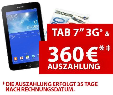 Orig. Vodafone Datentarif inkl. 5GB ab rechnerisch 3,24€ durch Zugabe Samsung Galaxy Tab 3