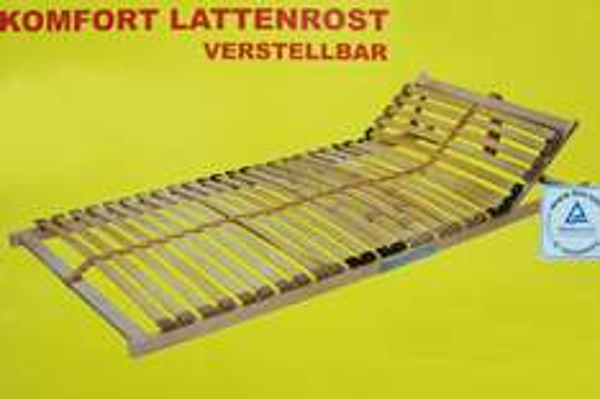 Frankenstolz Lattenrost verstellbar 90x200 Komfortabler schlafen...
