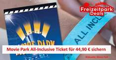 Sommer Special MOVIE PARK All-Inclusive (Getränke und Essen) für EUR 44,90 @Movie Park Bottrop