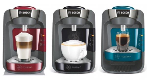 Groupon: TASSIMO SUNY Maschine mit 2 WMF-Gläsern, Latte Macchiato Kapseln, Frühstücksbrett und BelVita Keksen