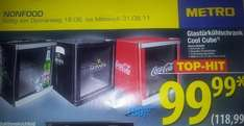Husky Cool Cube Mini-Kühlschrank für 118,99 - versch. Motive (Beck´s, Coca-Cola etc.) - Metro ab 18.08.