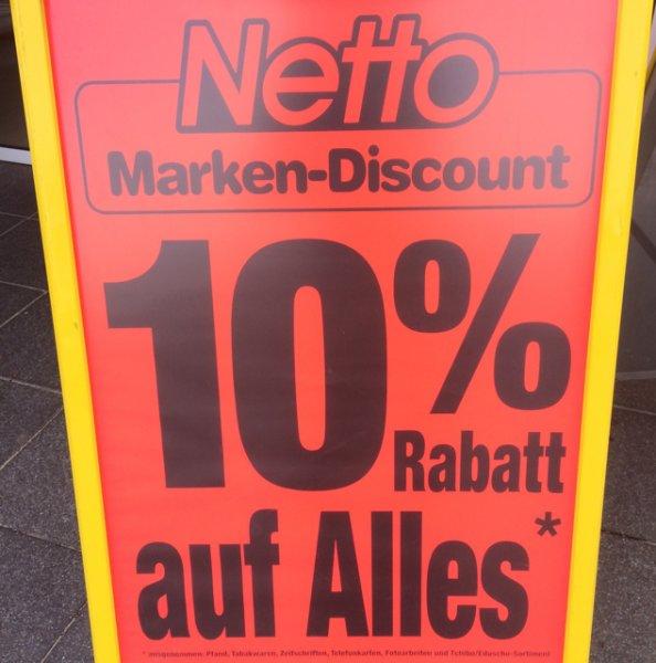!!!!Lokal!!! 10% auf alles im Netto Erfurt (am Flughafen)