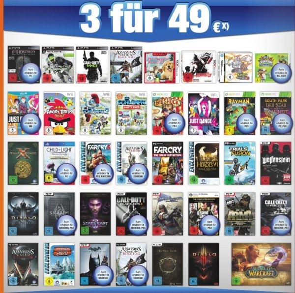 [Expert Bening] 3 Spiele für 49€- z.B. Diablo 3 (auch ROS) Wolfenstein...