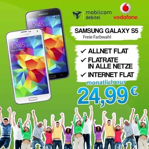 Samsung Galaxy S5 + Allnet Flat & Internet Flat Vodafone Netz