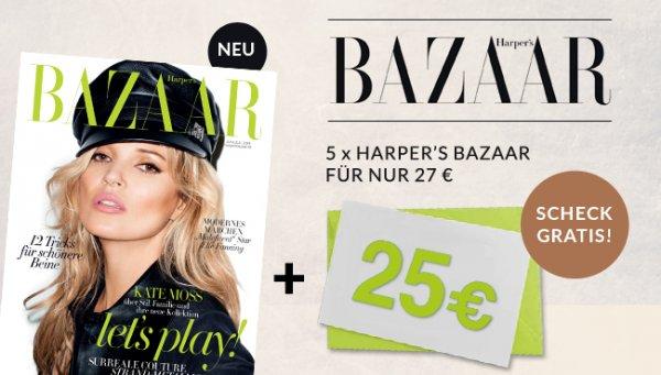 [Questler] 5 Ausgaben Harper's Bazaar mit rechnerisch 3 € Gewinn