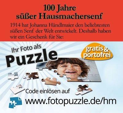 Händlmaier Senf kaufen und 1 individuelles Fotopuzzle gratis + vskfrei erhalten.