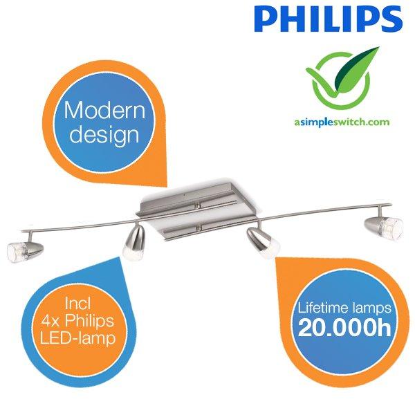 [iBOOD] Philips InStyle Deckenleuchte - 40738/17/16 für 128,90€