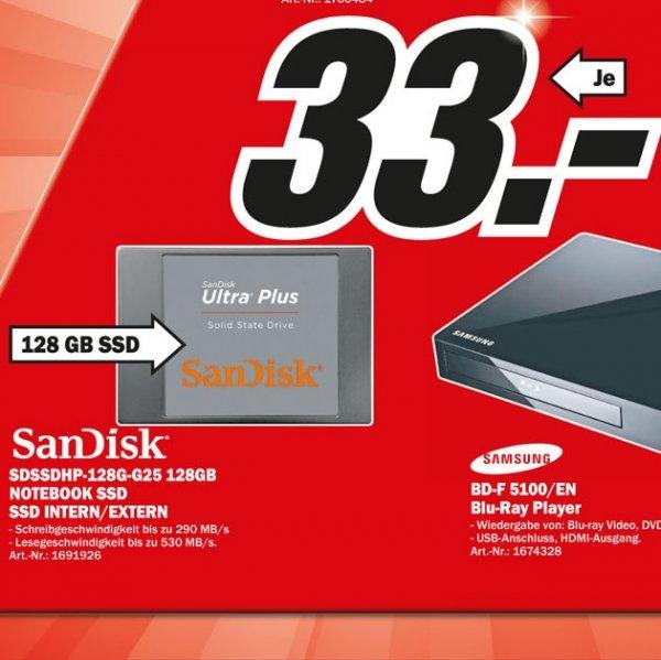 Sandisk Ultra Plus SSD 128GB für 33€, Samsung Galaxy Note 3 Neo für 249€  @ Mediamarkt Weiterstadt
