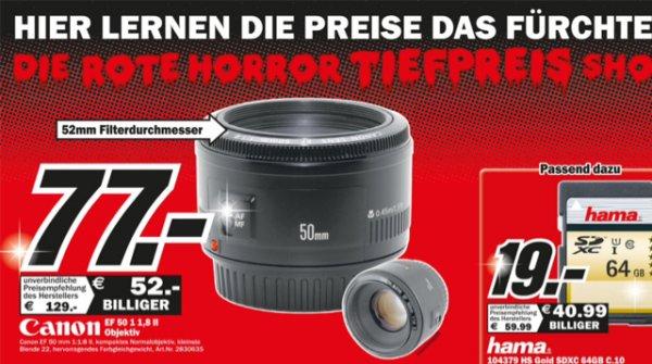Canon EF 50mm f/1.8 Objektiv @ Media Markt Wuppertal